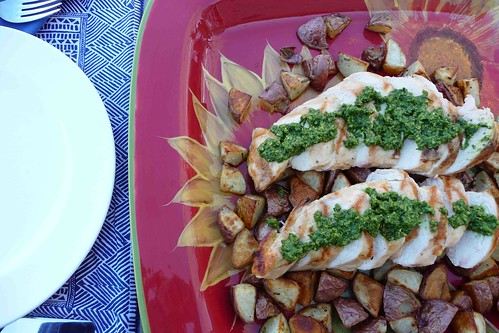Grilled Chicken with Spinach-Chive Pesto | by CookinCanuck