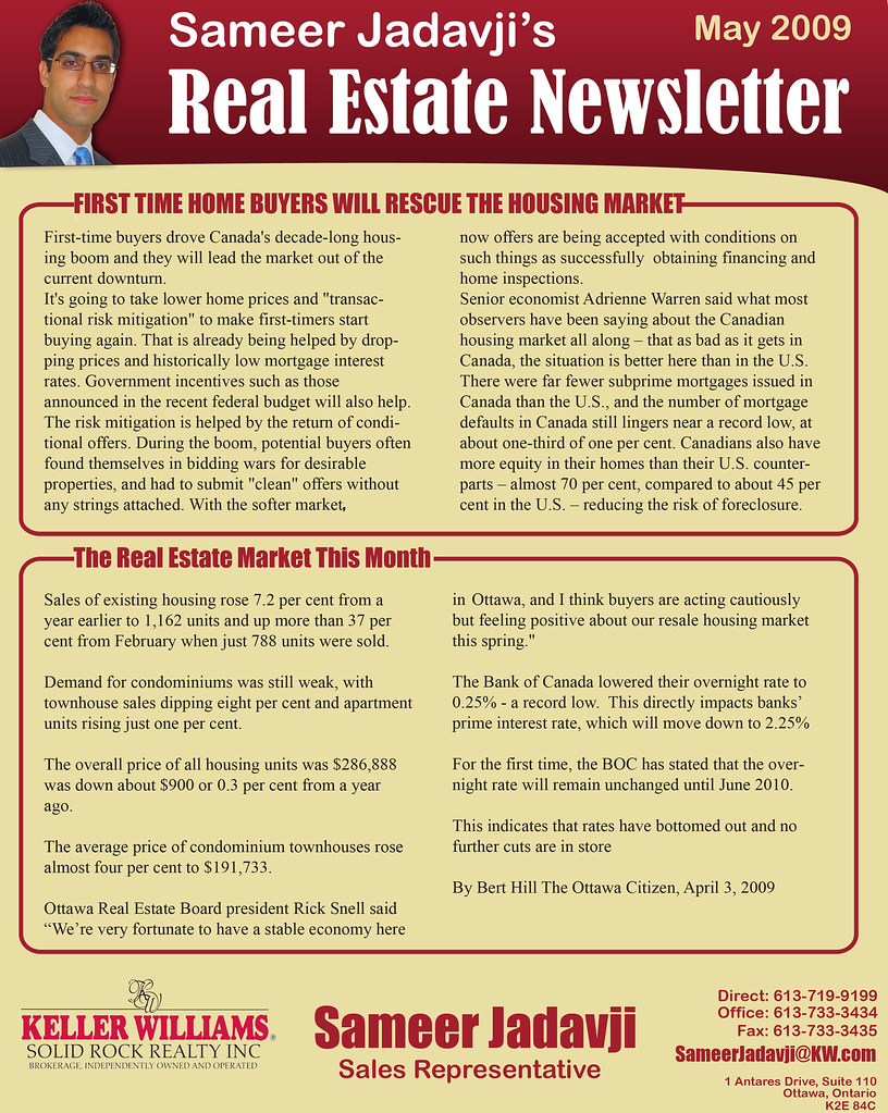 Real Estate Newsletter  A Real Estate Newsletter I Created   Flickr