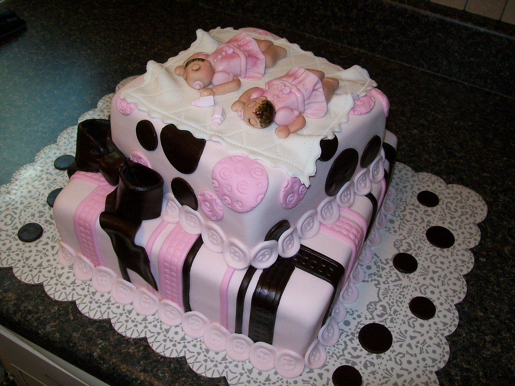 Twin Girls Baby Shower Cake Twin Girls Baby Shower Cake Flickr