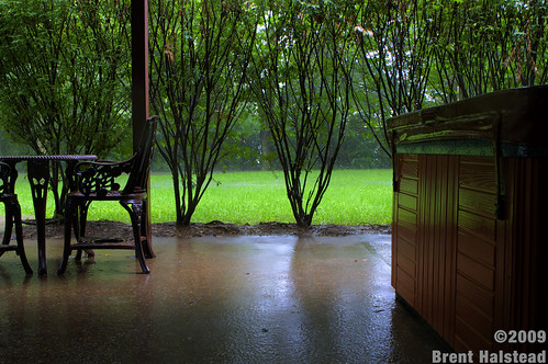 HDR Patio with rain | by Brent Halstead