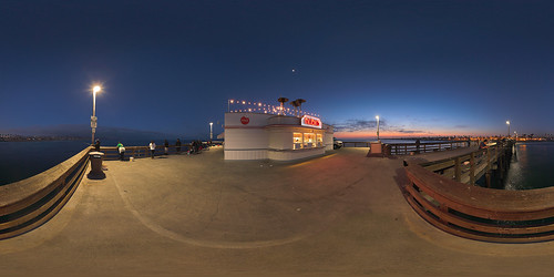 Balboa Pier at Dusk / Equirectangular | by akameus ( Randy Kosek )