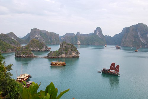 from the top of titop island, halong bay | by hopemeng