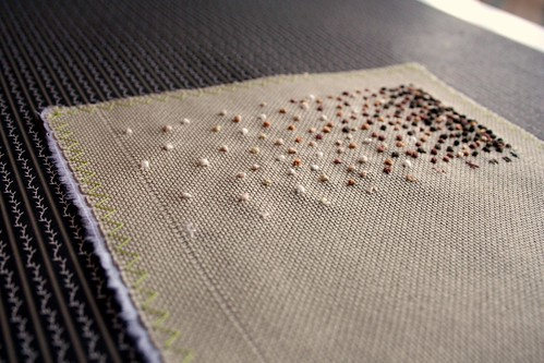 Band Sampler: French Knot (closeup) | by turning*turning