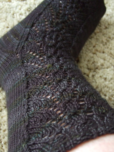 Blackrose Socks - leg | by Bellsknits