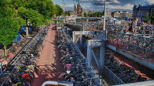 Amsterdam bicycle parking | by tychay