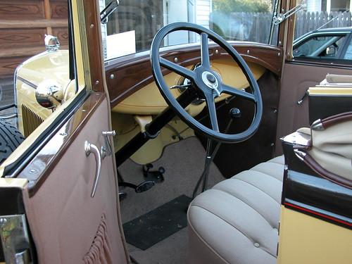 1930 model a ford 68b convertible cabriolet interior flickr. Black Bedroom Furniture Sets. Home Design Ideas