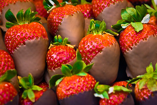 Chocolate-Coated Strawberries | by garryknight