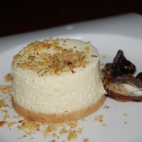Goat cheese cheesecake | With a few dates on the side. I wou ...