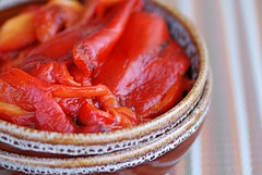 roasted red peppers | by Food Blogga