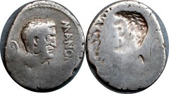 488/1 #0268-35 M.ANTON IMP Mark Antony brockage Denarius | by Ahala