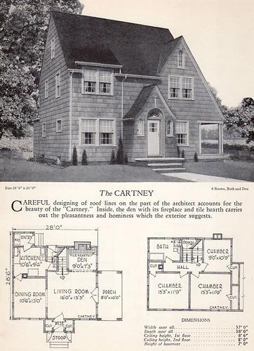 1928 Home Builders Catalog The Cartney