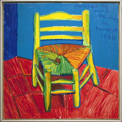 chair and pipe hockney homage to vincent van gogh seen at flickr. Black Bedroom Furniture Sets. Home Design Ideas