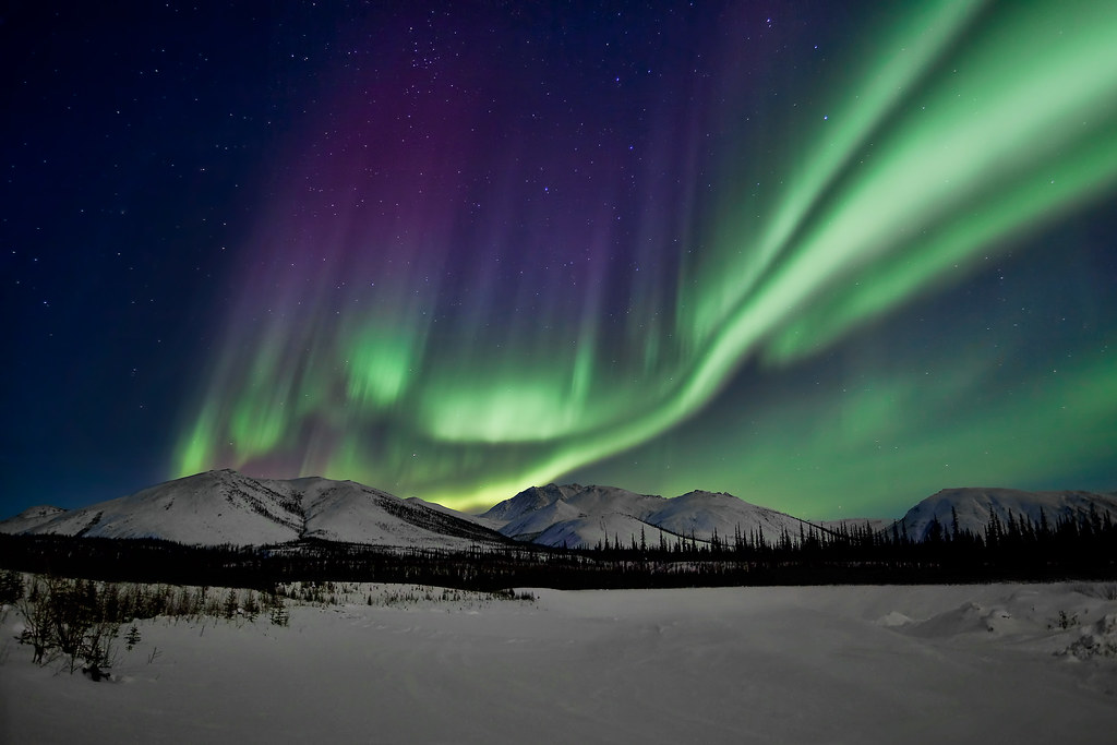 Dancing Northern Lights In The Brooks Range