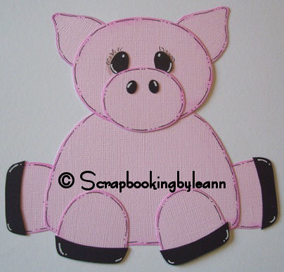 Pig Cardstock Scrapbook Paper Piecing I Just Love Dinas P Flickr