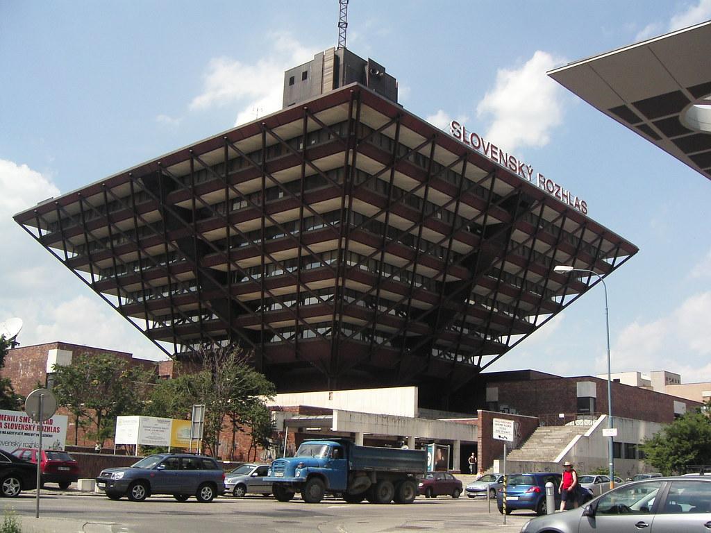 Slovak Radio Building (Slovenský rozhlas) Pyramid Bratislava Slovakia KIF_1499