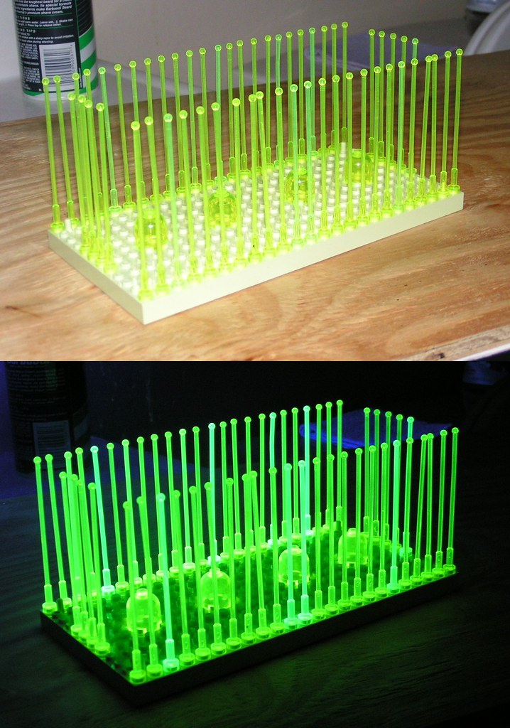 LEGO antennae with & without blacklight | Trans-neon yellow … | Flickr