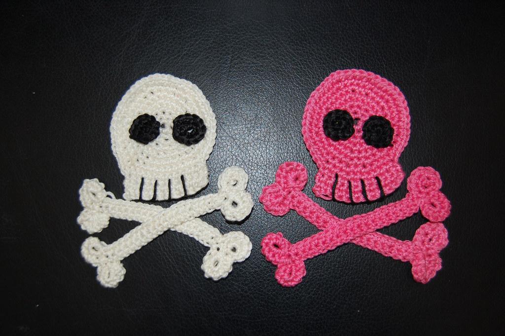 Crochet Skull And Crossbones Applique Etsyviewli Flickr