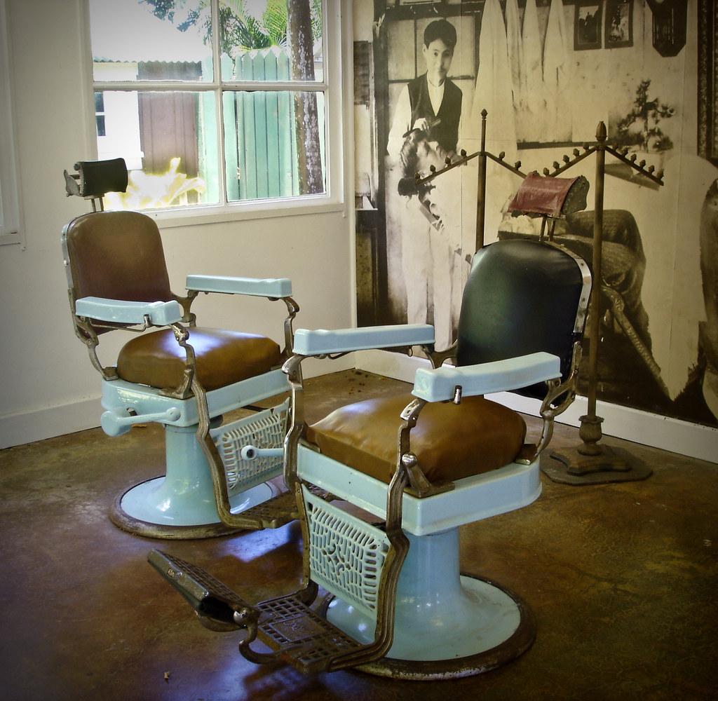 Vintage barber shop chairs -  Vintage Barber Shop On Kauai By J B