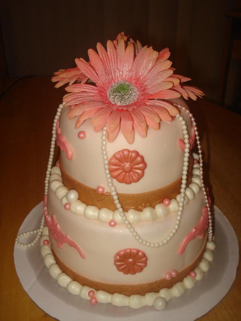 Elegant Baby Shower Cake Charleyandthecakefactory Flickr