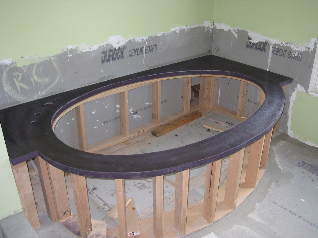 Tub surround for the Kohler Purist bathtub | Yes, that concr… | Flickr