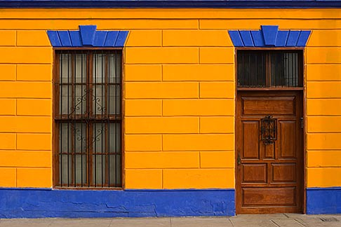 Colorful historic buildings in port of Callao, Peru | by david sanger