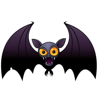 Halloween Vampire Bat | Vector cartoon illustration of a ...