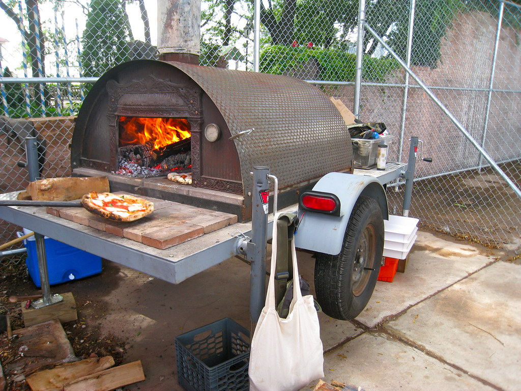 Portable wood fired pizza oven for sale -  Pizza Moto By Adam Kuban
