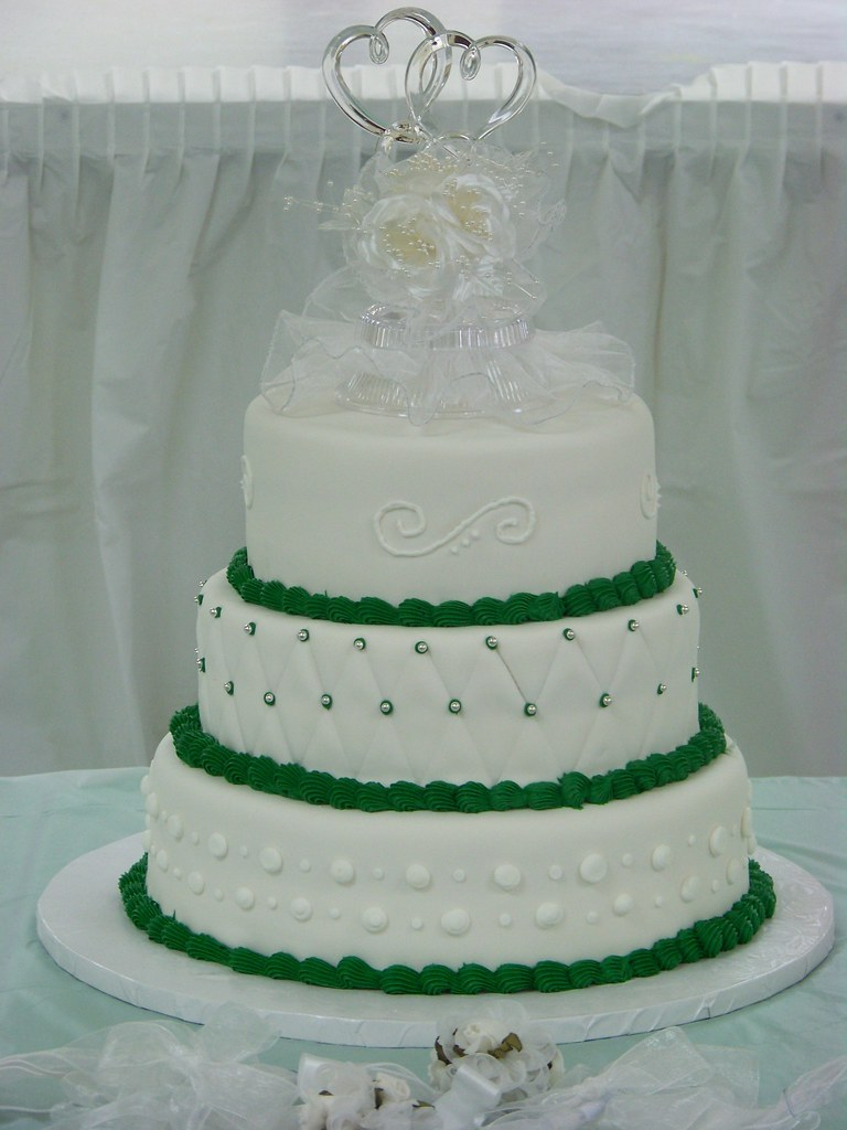 Emerald Wedding Cake A Simple Elegant 3 Tier Wedding Cake Flickr