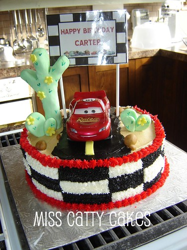 Cake Decoration Of Cars : Carter s Cars Birthday Cake 2009 This special cake was ...