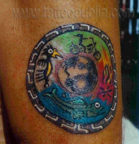 Earth Wind Water Fire Tattoo four elements t...