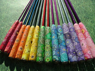 Rainbow of Knitting Needles | by polymerclaycreations