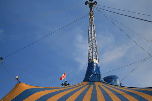 Cirque du Soleil pitched their tent! | by add_knitter