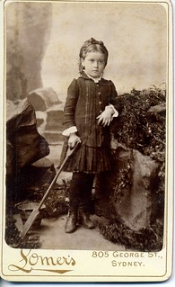 A young girl with bucket and spade, Albert Lomer studio, Sydney | by Blue Mountains Library, Local Studies
