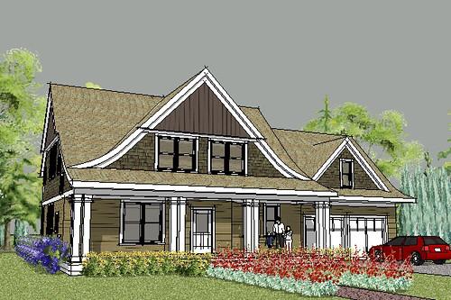 Lake Elmo Cape Cod House Plan Rendering House Designed