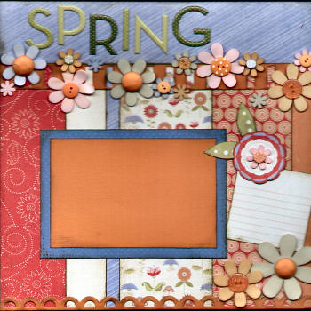 March 2009 Sample Layout 1 Monthly Scrapbook Kit Club Samp Flickr