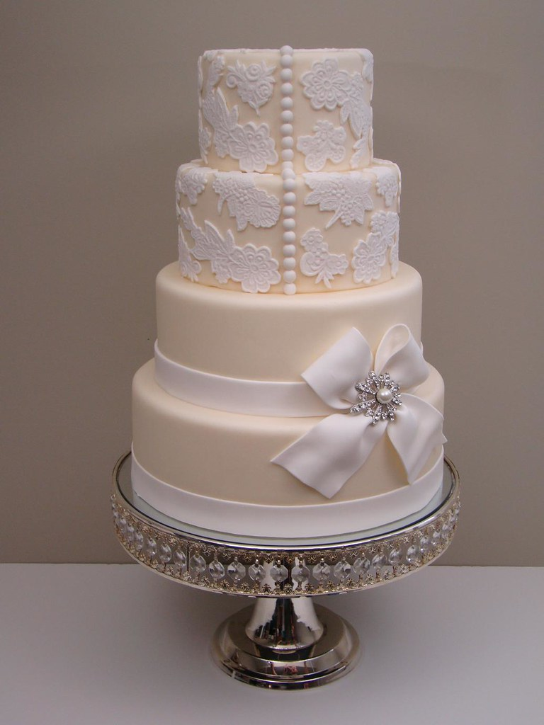 Lace Wedding Cake 1 Lace Wedding Cake Inpired By Rebecca Flickr - Lace Wedding Cakes