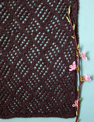 Whit's Knits: Checkerboard Lace Scarf | by the purl bee