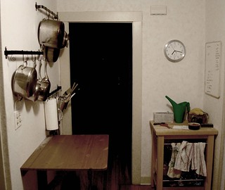 Kitchen Table Against Wall