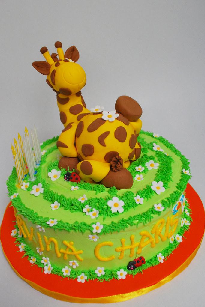 Giraffe Birthday Cake Liza Flickr
