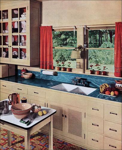 1936 Kitchen With Linoleum Counter