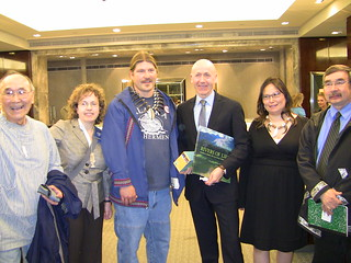 4/14/09: (From left) Bobby Andrew, Bonnie Gestring, Everett Thompson, Melvyn Kirtley (Tiffany & Co. UK president), Lydia Olympic and Thomas Tilden. Photo by Harlin Savage | by ak2ukweb