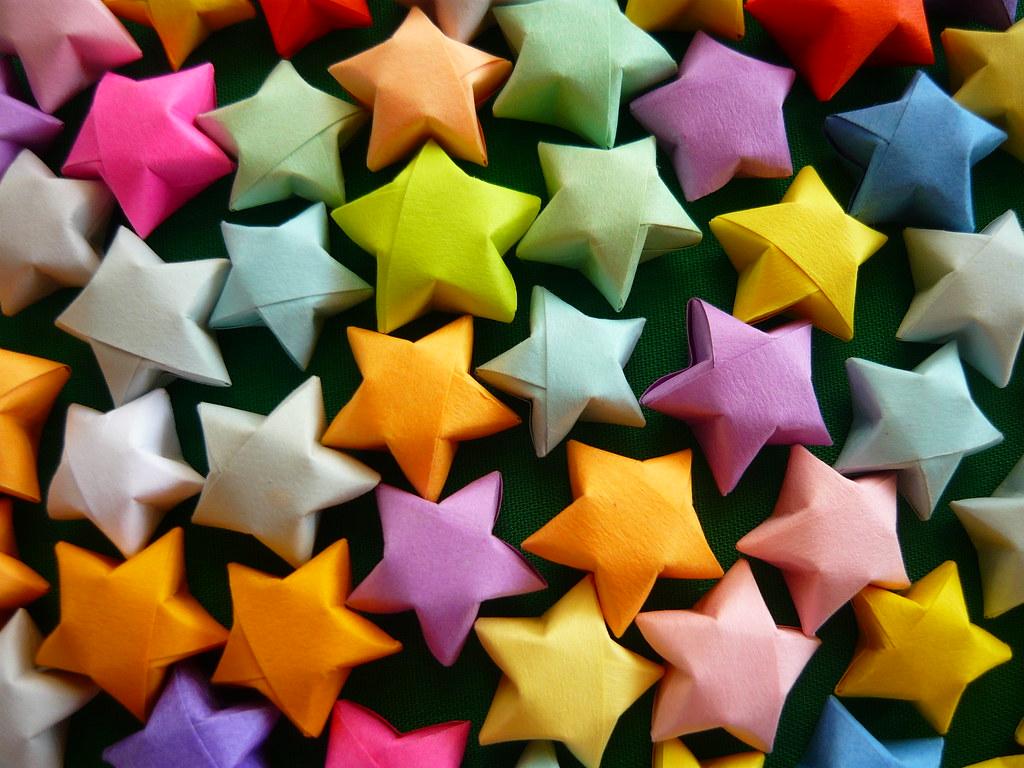Звёзды маленькие из бумаги