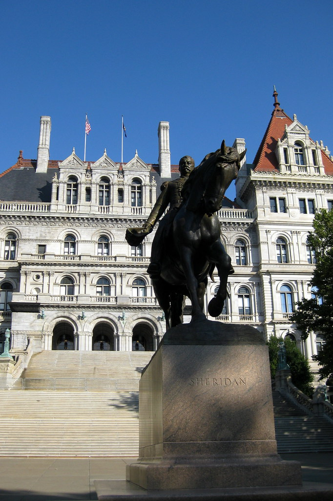 Ny Albany New York State Capitol And General Philip Sheridan By Wallyg