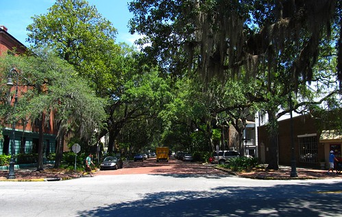 Jones Street and Bull Street, Savannah, Georgia | by Ken Lund
