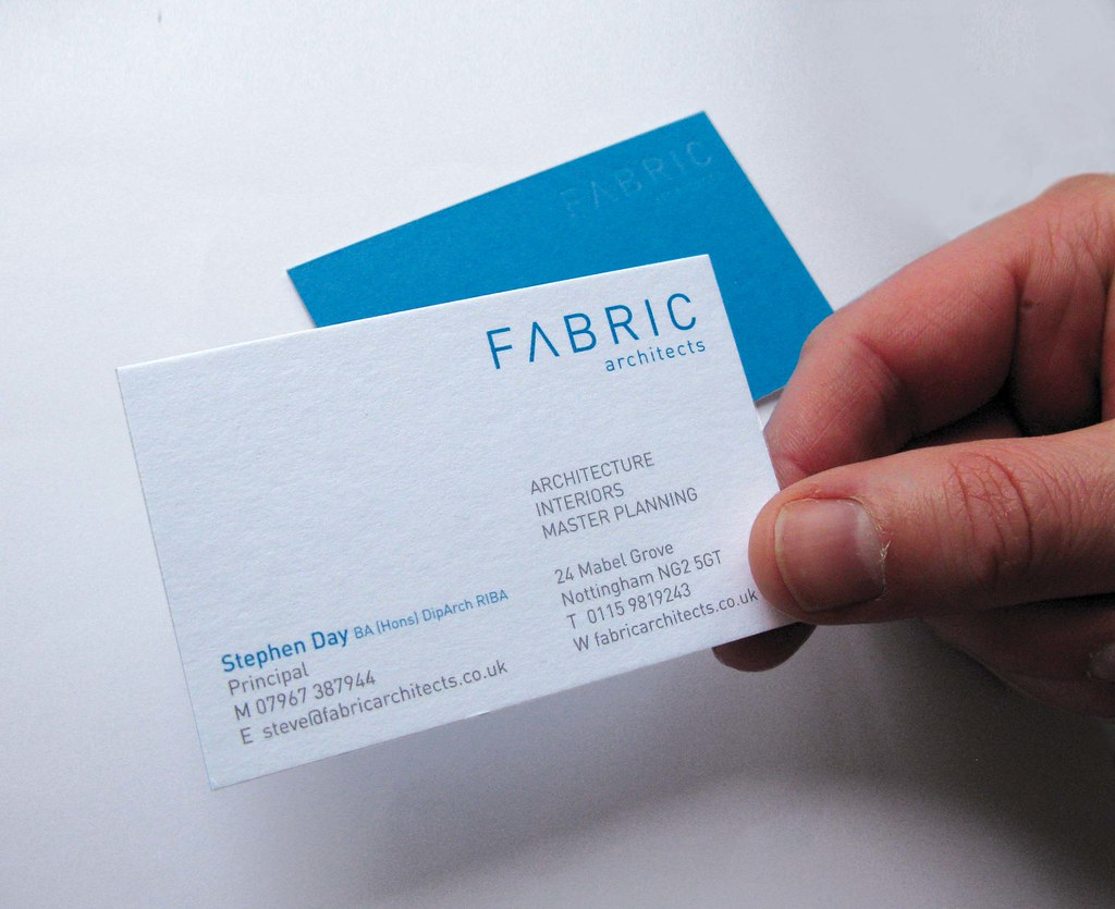 Fabric Architect Business Card | The business cards were pri… | Flickr