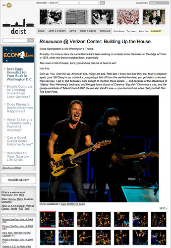 Bruce Springsteen for DCist | by Kyle Gustafson