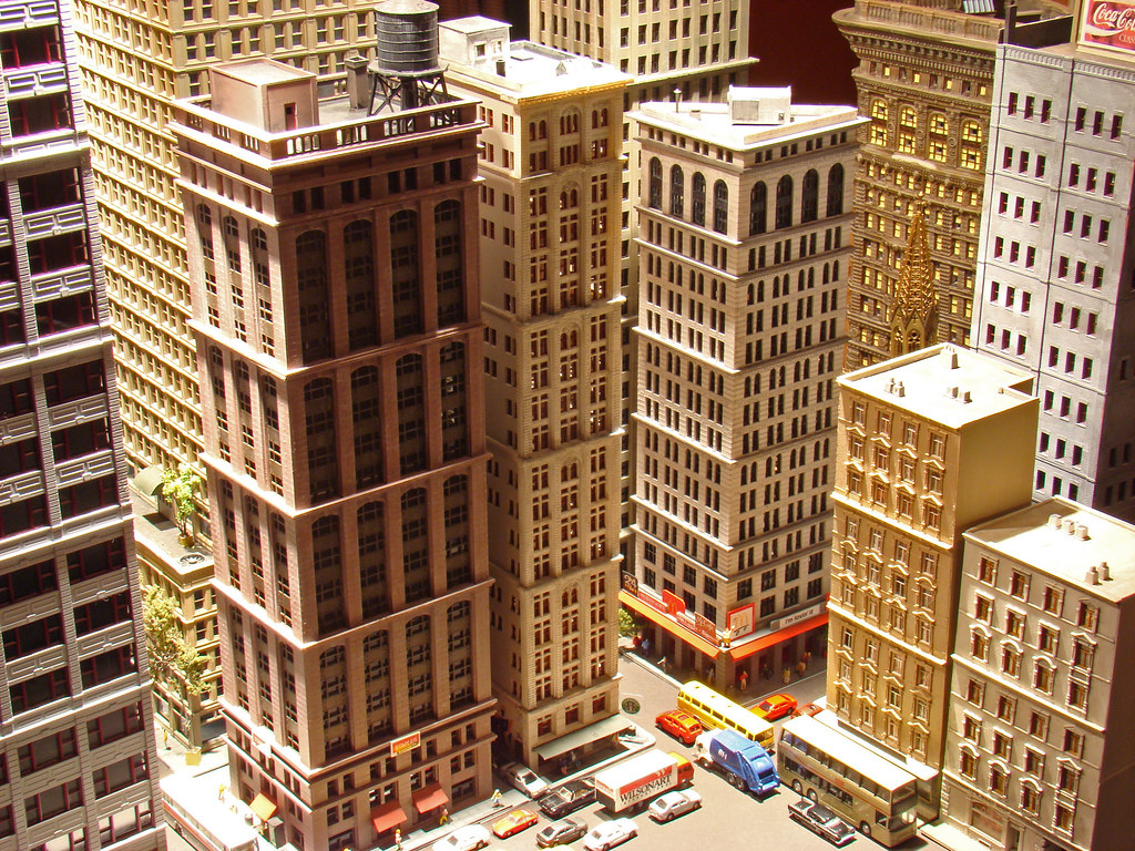 city building side.  N Scale City Skyscrapers Gas And Electric Building Flat Iron Completed Flickr