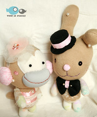 sock monkey / bunny | by The Guos