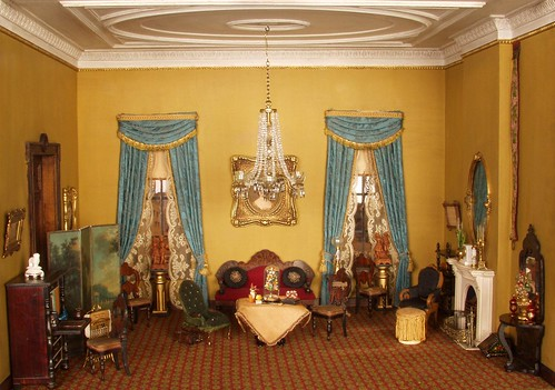 Victorian Style Furniture >> Thorne Rooms at KMA, Parlor | Victorian Parlor, c. 1850