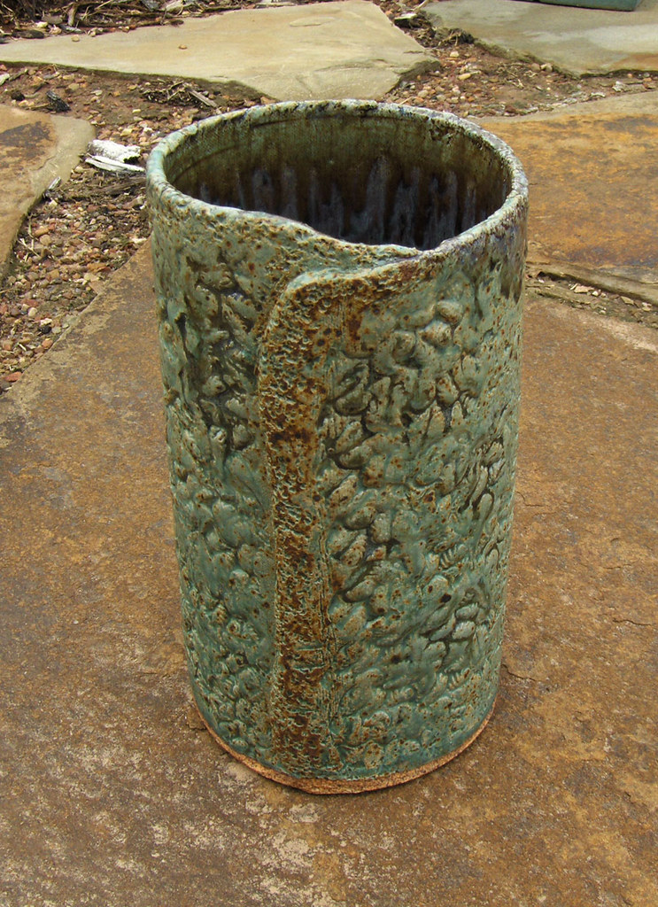 Ceramic Slab Vase Slab Vase Made From A Cone 10 Laguna Cla Flickr